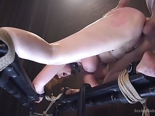 demeaning bdsm ass banging of curvy redhead sub lauren phillips