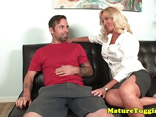 busty cougar wanks daughter hubby till cum