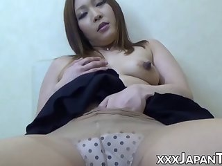 japanese amateur strips naked and fingers her tight pussy