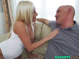 beautiful blonde babe seduces her stepdad and has taboo sex
