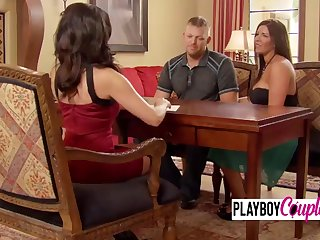 trish and jp get together with horny chicks to foreplay