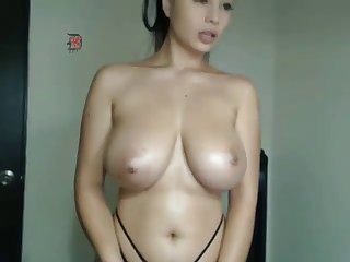 hot latina chick teasing big natural tits