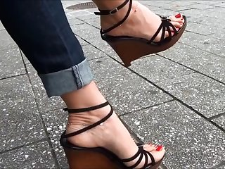 very very hot feet walks hither high-pressure
