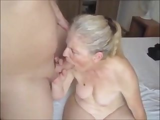grandma sucking young detect and get facial